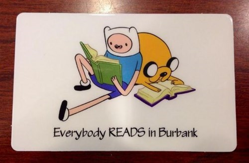 reading is sexy library adventure time