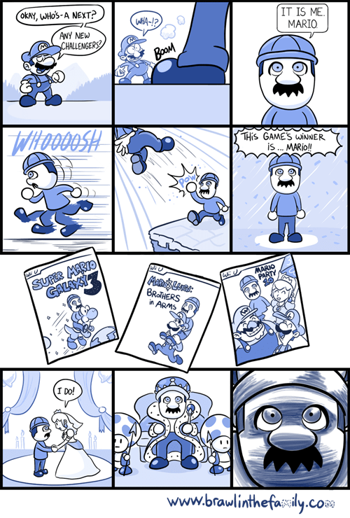brawl in the family mii infiltration mario nintendo web comics