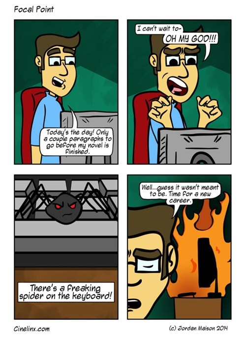 fire,spiders,writing,web comics