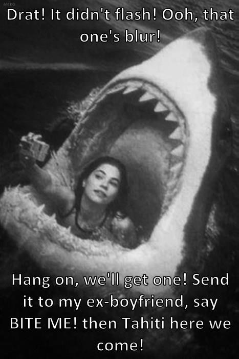 breakup,sharks,weird,selfie