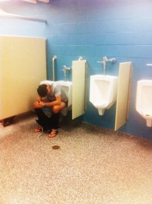 dump,drunk,urinal,idiots