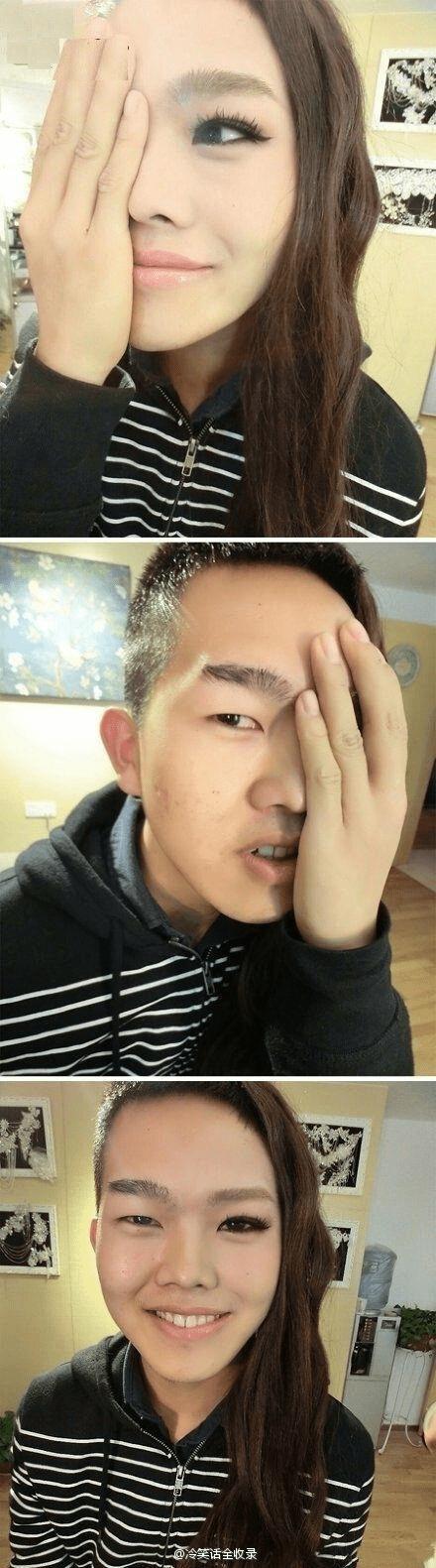 makeup,selfie