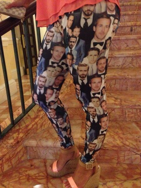 poorly dressed Ryan Gosling leggings g rated