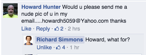 richard simmons,facebook