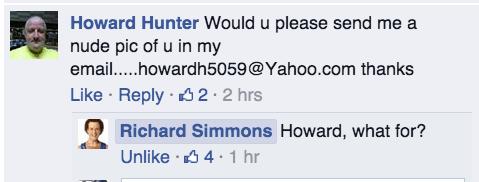 richard simmons facebook - 8252219136