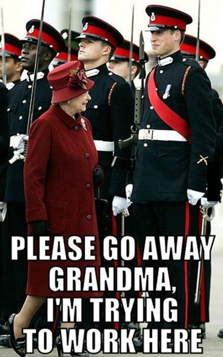 Queen Elizabeth II prince william funny