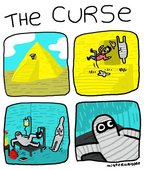 mummies,curses,web comics