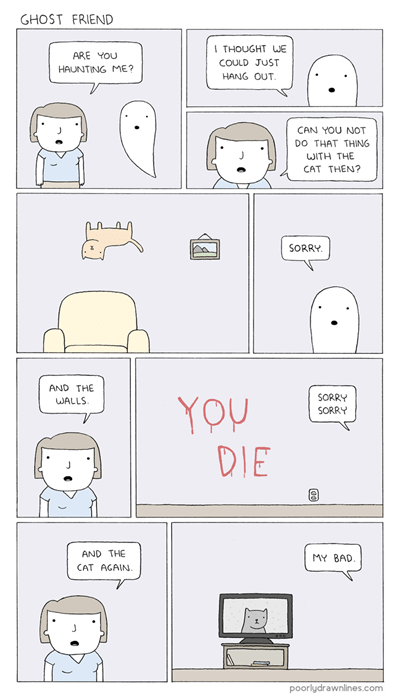 friends ghosts web comics - 8252372736