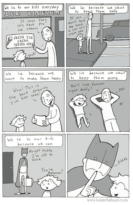 family,kids,lies,parenting,web comics