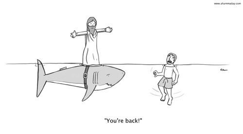 jesus sharks web comics - 8252382976