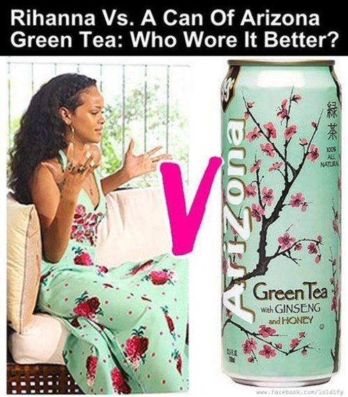 iced tea,who wore it better,rihanna