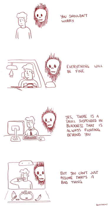 ghosts,optimism,skulls,web comics