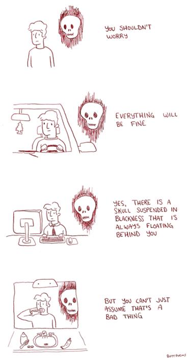 ghosts optimism skulls web comics - 8252429056