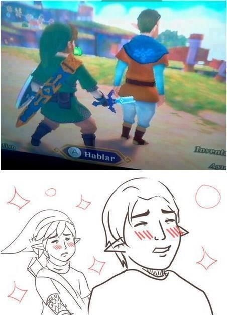 Fan Art,tumblr,zelda,i'll take what i can get