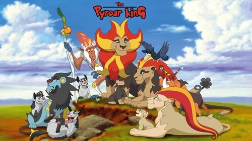 Fan Art,lion king,Pyroar