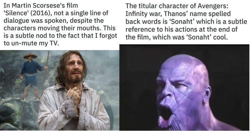 funny satirical facts about movies