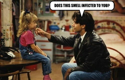 DOES THIS SMELL INFECTED TO YOU?