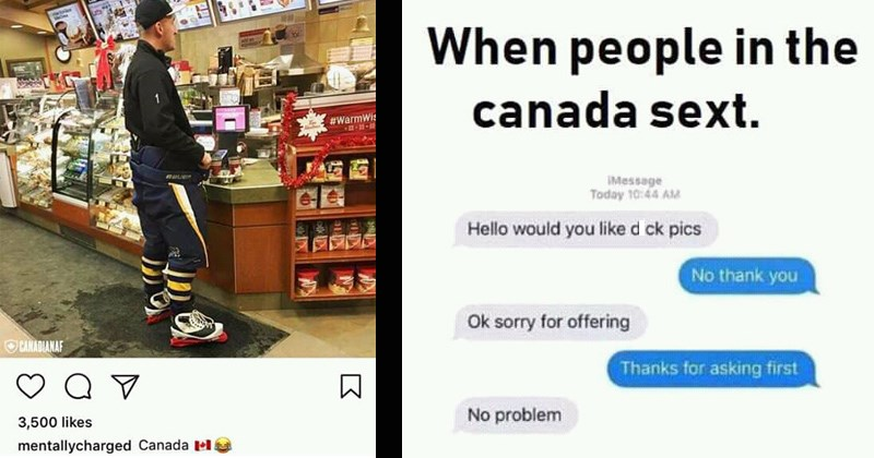 Canada polite tim hortons hockey canadian funny memes sorry maple syrup stereotypes canada memes - 8253957
