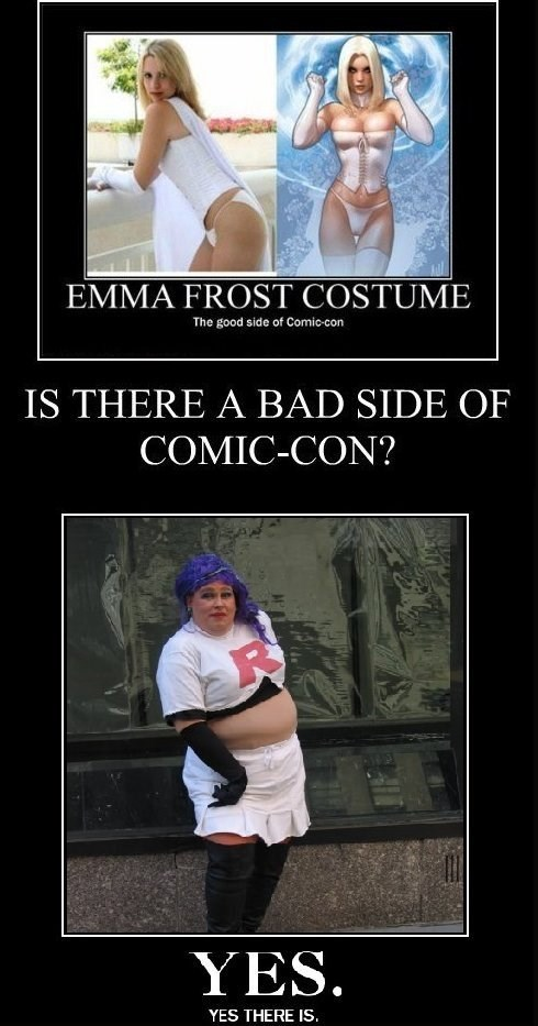 ComicCon cosplay bad idea funny
