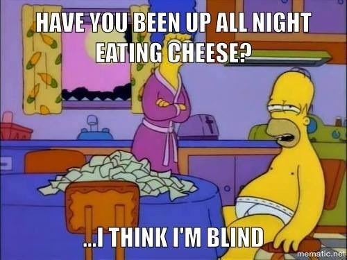 blind cheese the simpsons - 8254467840