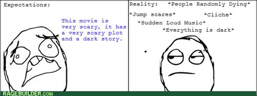 expectations vs reality horror movies - 8254499072