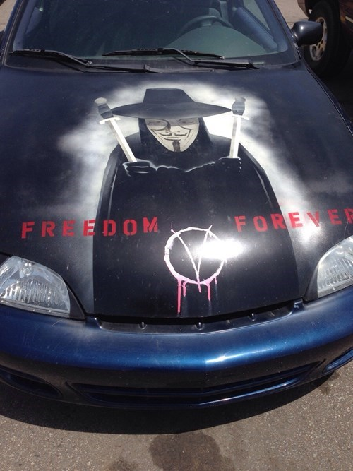 cars,v for vendetta,paintjobs