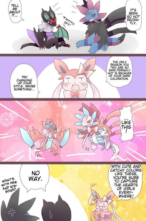 colors summer Pokémon sylveon - 8254917888