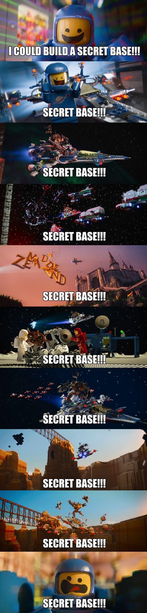 lego secret base - 8255099648