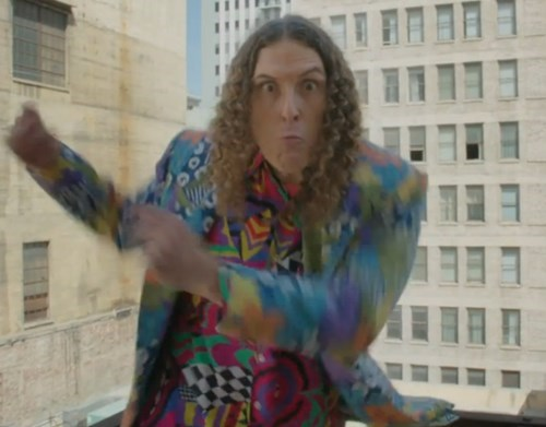 weird al parody happy tacky