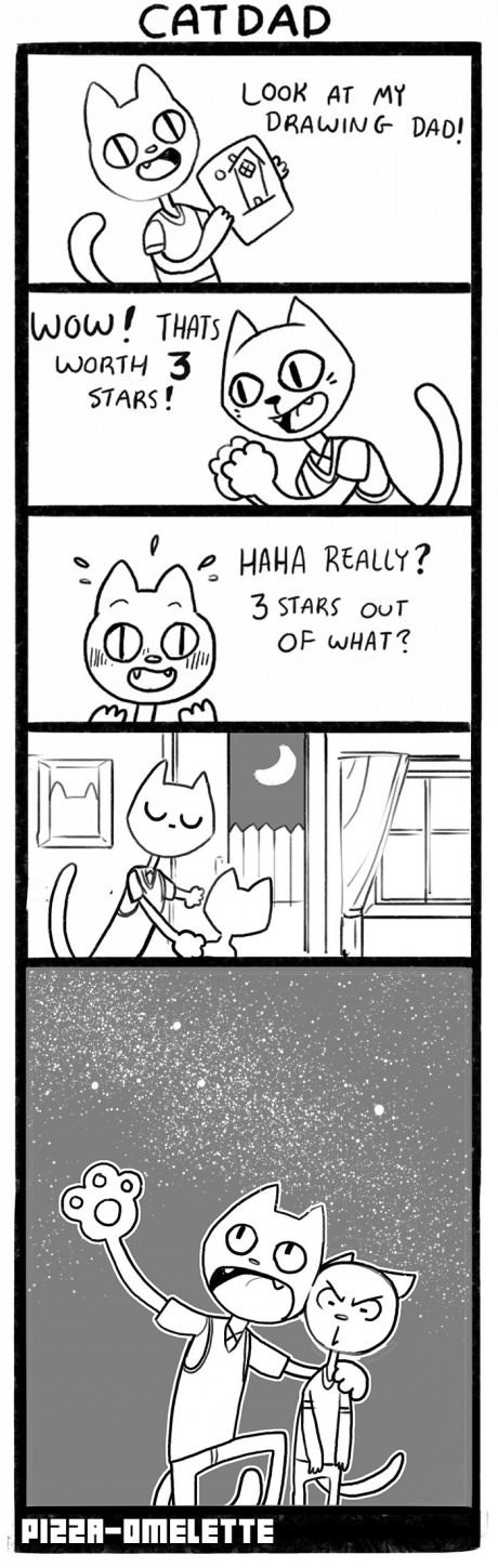 parenting,stars,Cats,web comics