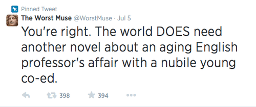muse,funny,terrible,literature,writing,g rated