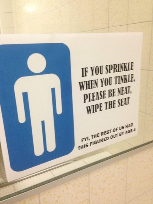 bathroom monday thru friday sign - 8255196416