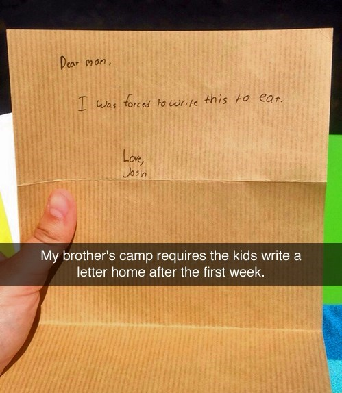 kids,letters,parenting,summer camp