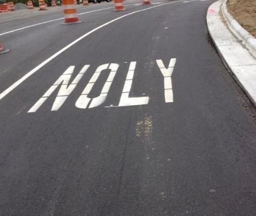 monday thru friday spelling misspelling road work - 8255307008