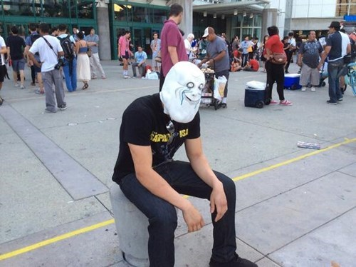 forever alone,mask,poorly dressed