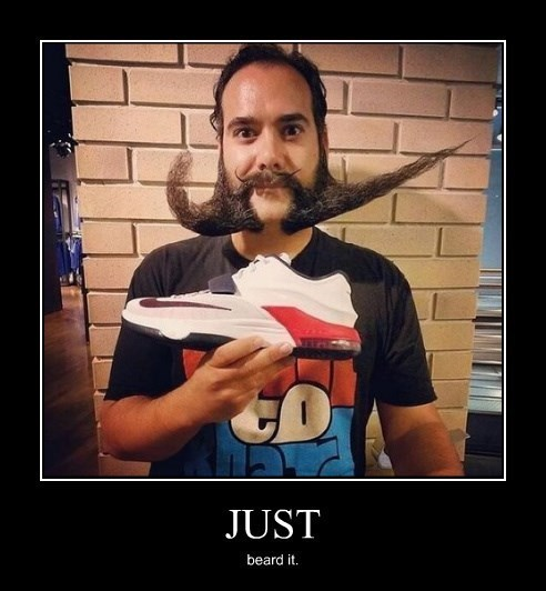 beard funny shoes nike - 8255415040