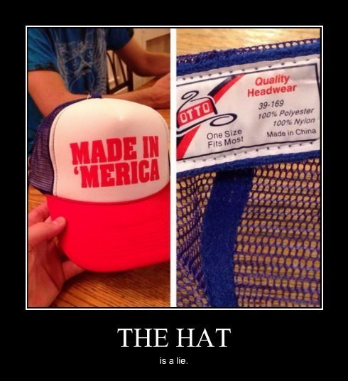 China hat funny lie murica - 8255415296