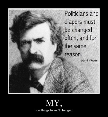 change mark twain funny politicians