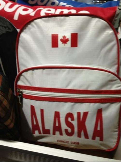 alaska backpack Canada FAIL poorly dressed g rated - 8255441664