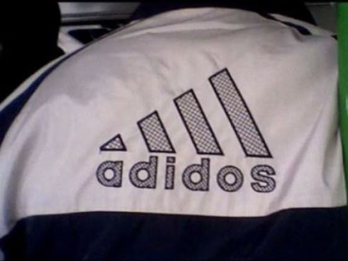 adidas,poorly dressed,knockoff