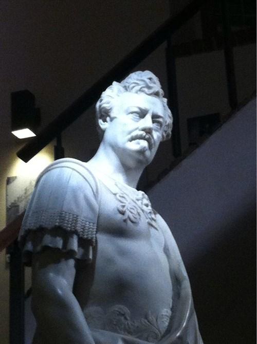 funny ron swanson statue - 8255470592
