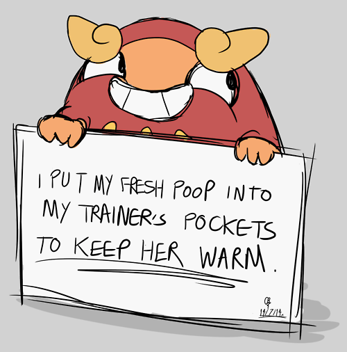 Cartoon - IPUT MY FRESH POoP INTO MY TRAINERS POCKETS TO KEEP HER WARM . 1i/z14