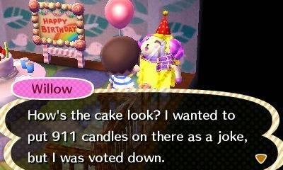 911 animal crossing birthday wtf - 8255483904