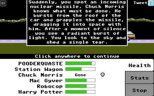 chuck norris,organ trail