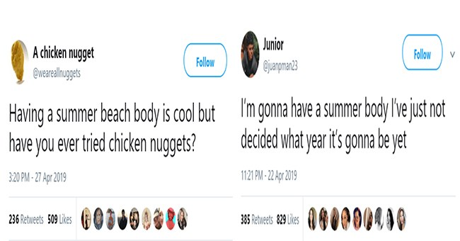 twitter tweets about summer diets