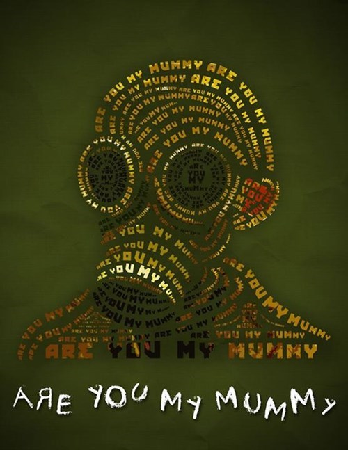 art are you my mummy doctor who typography - 8255555584