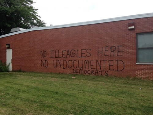 america graffiti spelling fail nation