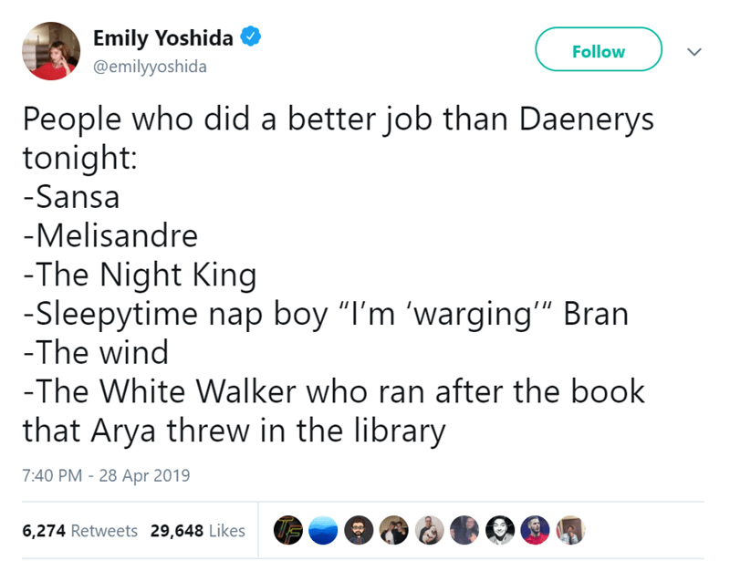 Game of Thrones funny tweets - 8255749