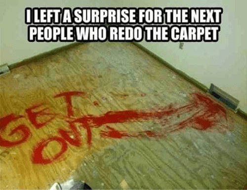 get out,carpet,Blood