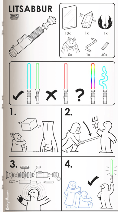 star wars,lightsabers,ikea
